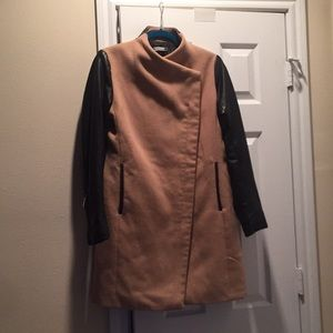 Stradivarius Jacket with faux leather sleeves